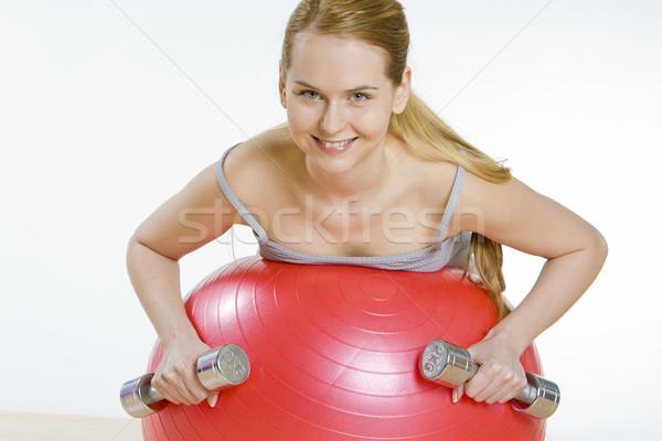 exercising woman Stock photo © phbcz