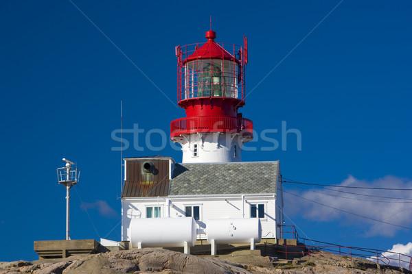 lighthouse, Lindesnes, Norway Stock photo © phbcz