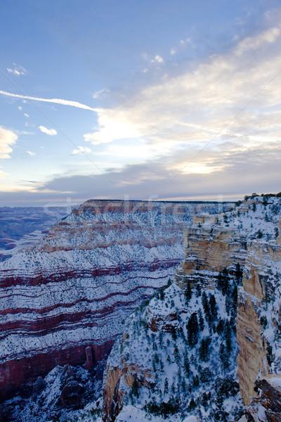 Grand Canyon National Park in winter, Arizona, USA Stock photo © phbcz