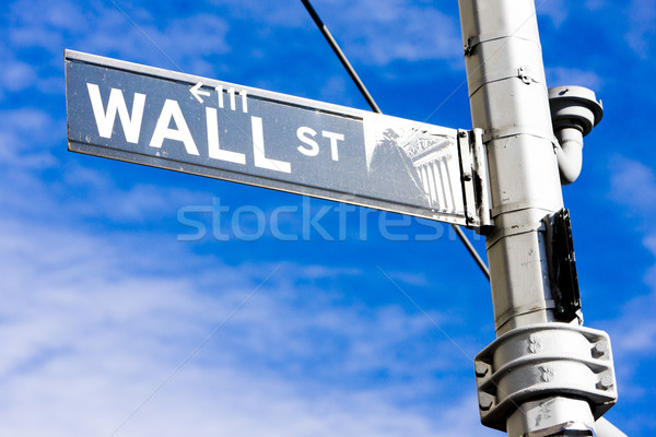 Wall Street знак Нью-Йорк США город улице Сток-фото © phbcz