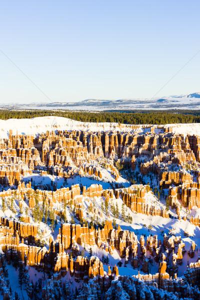 Canyon park winter Utah USA landschap Stockfoto © phbcz
