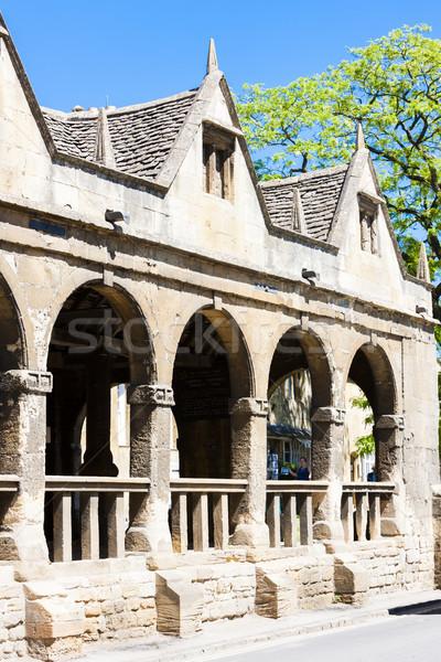 Oude markt hal Engeland reizen architectuur Stockfoto © phbcz
