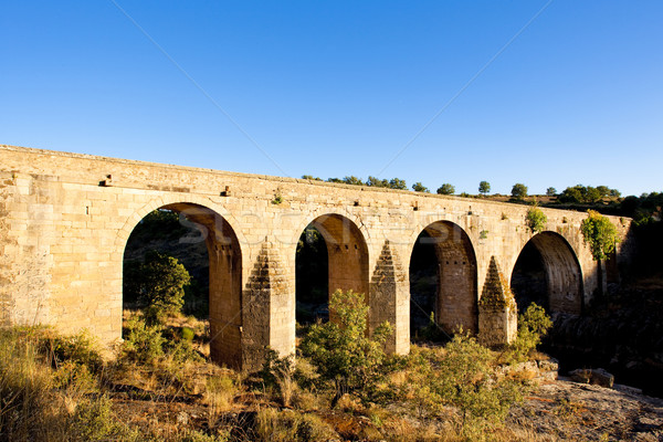 bridge near Cerralba, Castile and Leon, Spain Stock photo © phbcz