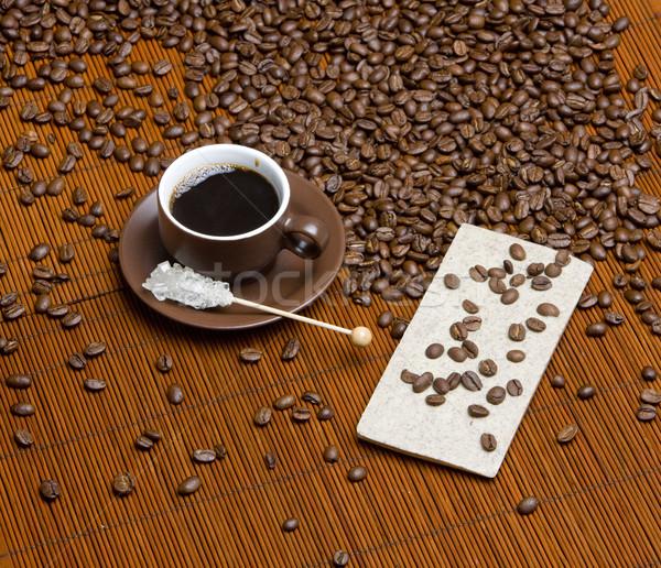 coffee with sugar Stock photo © phbcz