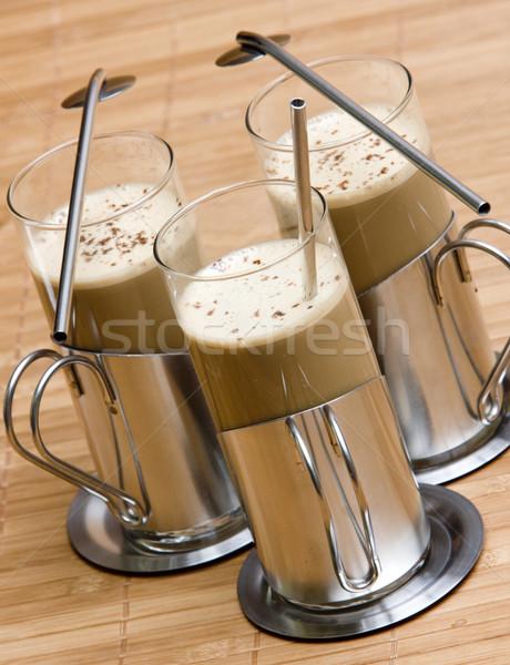 Zdjęcia stock: Okulary · kawy · pić · Kafejka · trzy