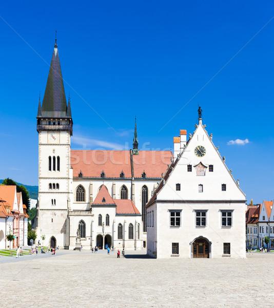 Stadhuis vierkante Slowakije huis stad kerk Stockfoto © phbcz