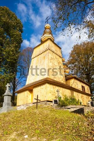 wooden church, Hunkovce, Slovakia Stock photo © phbcz
