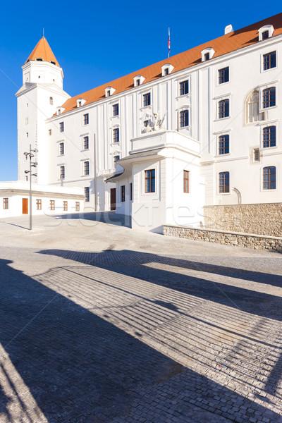 Bratislava castel Slovacia oraş călători arhitectură Imagine de stoc © phbcz