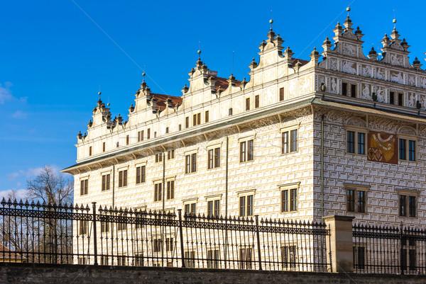 Pałac Czechy budynku architektury Europie odkryty Zdjęcia stock © phbcz