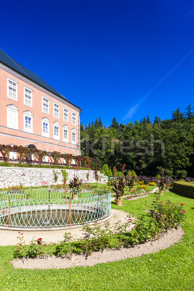 palace in Kamenice nad Lipou with garden, Czech Republic Stock photo © phbcz