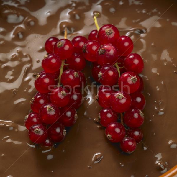 шоколадом фрукты десерта есть конфеты нездоровый Сток-фото © phbcz