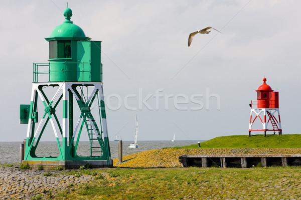lighthouses, Stavoren, Friesland, Netherlands Stock photo © phbcz
