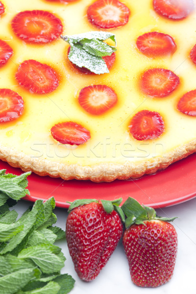 strawberry cake Stock photo © phbcz