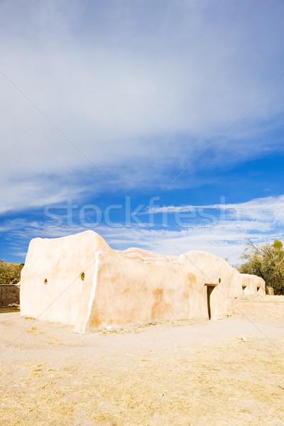 Missie Arizona USA architectuur geschiedenis buitenshuis Stockfoto © phbcz