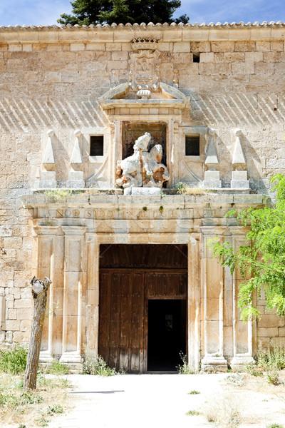 Kolostor Spanyolország templom építészet történelem kint Stock fotó © phbcz