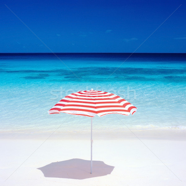 sunshade, Petite Anse, Mah Stock photo © phbcz