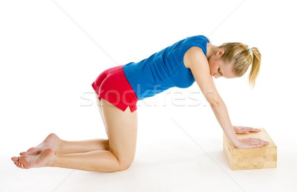 Stock fotó: Testmozgás · nő · fitnessz · sportok · fiatal · képzés