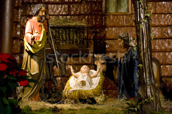 crib in Cathedral Notre Dame, Strasbourg, Alsace, France Stock photo © phbcz
