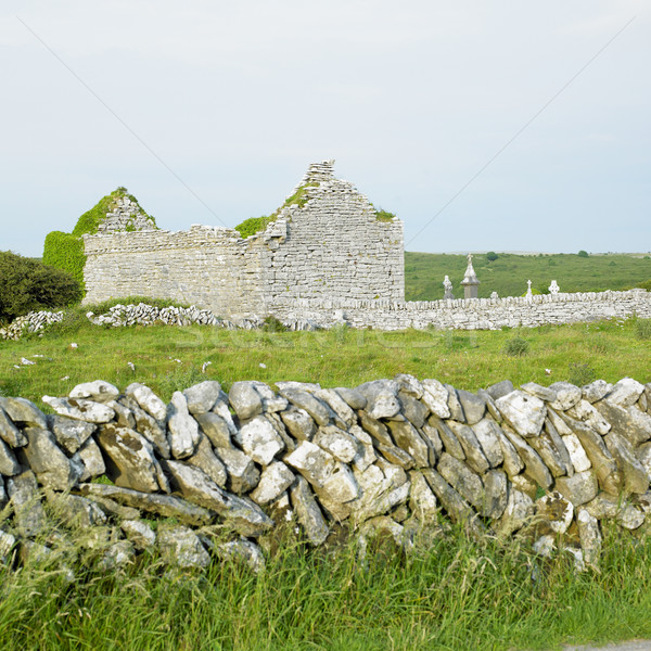 ruins of Carran Church, Burren, County Clare, Ireland Stock photo © phbcz