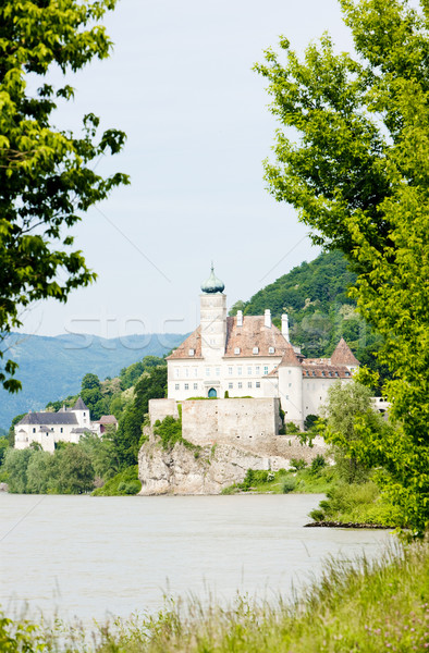 Foto stock: Castillo · danubio · río · bajar · Austria · viaje