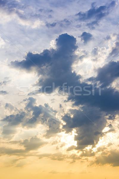 cloudy sky Stock photo © phbcz