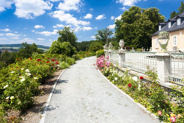 дворец саду Чешская республика цветок здании закрывается Сток-фото © phbcz