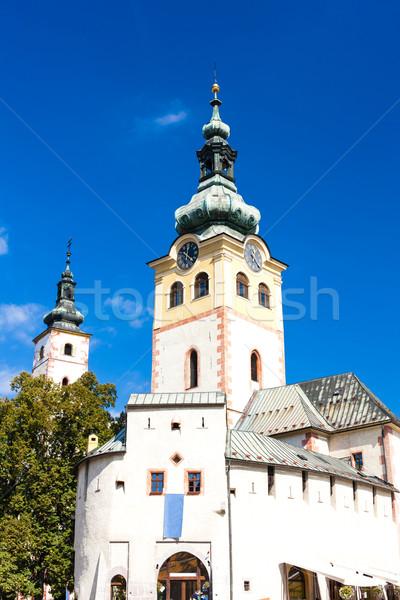 Cidade castelo Eslováquia edifício cidade viajar Foto stock © phbcz