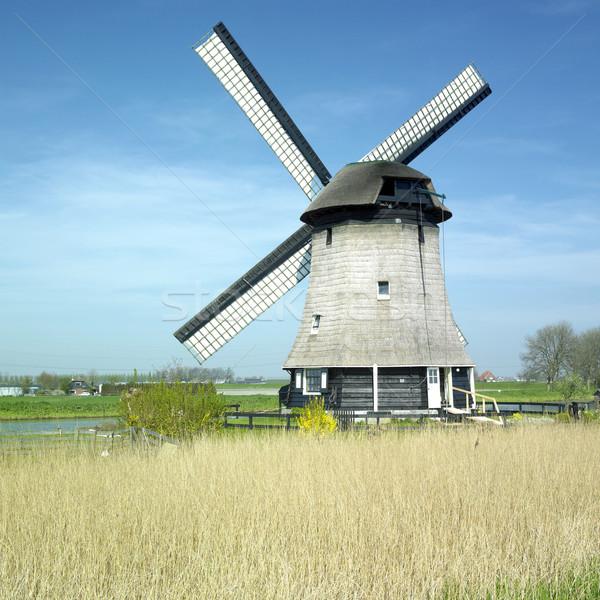 Moulin à vent Pays-Bas Voyage moulin extérieur à l'extérieur Photo stock © phbcz