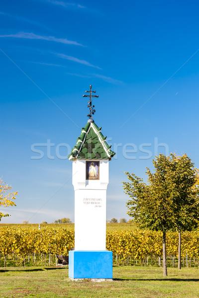 God's torture with vineyard near Velke Bilovice, Czech Republic Stock photo © phbcz