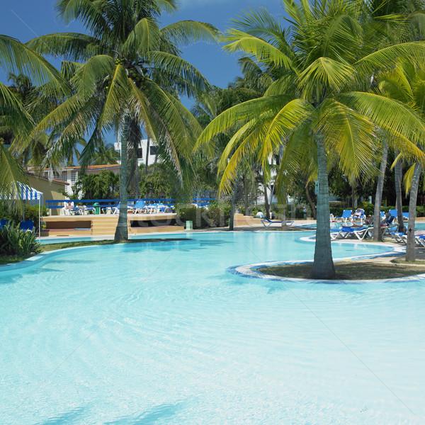 Stockfoto: Hotels · zwembad · Cuba · zwembad · tropische · vakantie