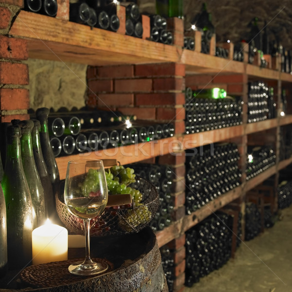 wine cellar, Bily sklep rodiny Adamkovy, Chvalovice, Czech Repub Stock photo © phbcz