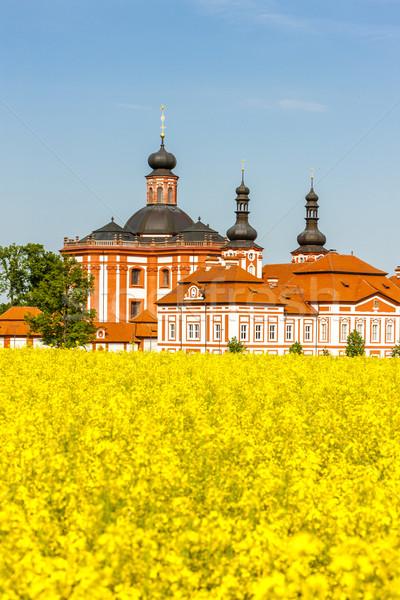 Csehország templom utazás építészet növény Európa Stock fotó © phbcz