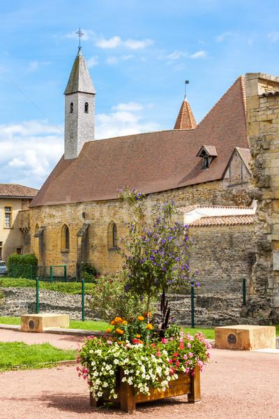 Manastır bölüm Fransa kilise mimari tarih Stok fotoğraf © phbcz
