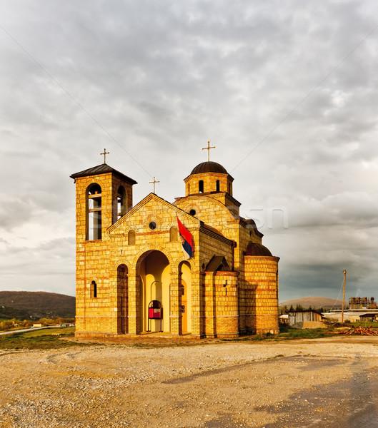 church near Sargan, Serbia Stock photo © phbcz