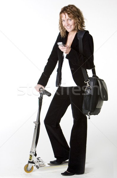 businesswoman with a scooter Stock photo © phbcz