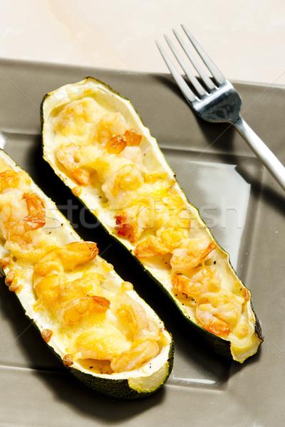 Cukinia warzyw posiłek naczyń Zdjęcia stock © phbcz
