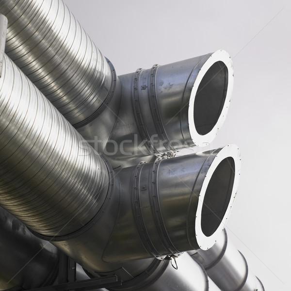 Ipari csövek tárgyak hangszer szabadtér felszerlés Stock fotó © phbcz