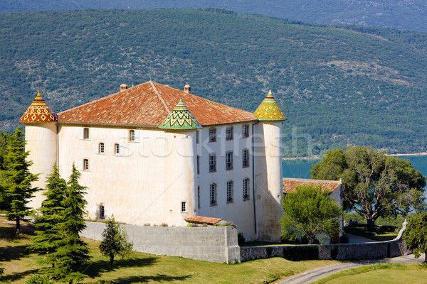 chateau in Aiguines, Var Departement, Provence, France Stock photo © phbcz