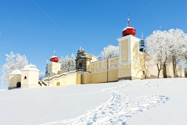Foto stock: Montanha · mãe · deus · mosteiro · República · Checa