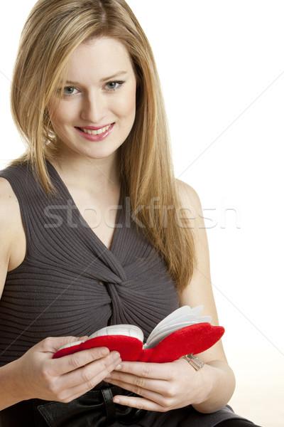 ストックフォト: 肖像 · 若い女性 · 日記 · 女性 · 小さな