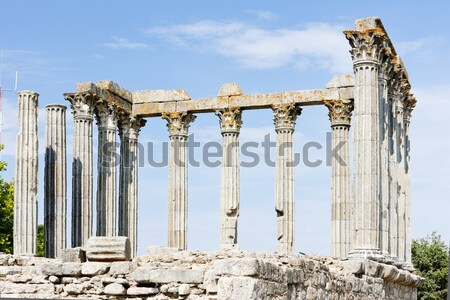Roman temple of Diana, Evora, Alentejo, Portugal Stock photo © phbcz