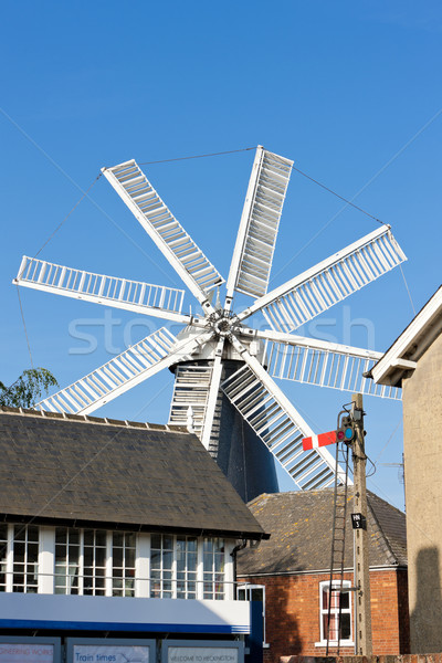 windmill in Heckington, East Midlands, England Stock photo © phbcz