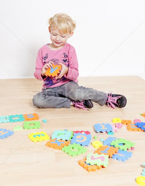 Stock photo: playing little girl