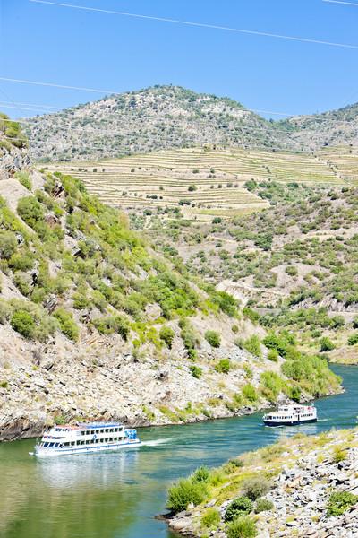 Croisière habituellement vallée Portugal Voyage bateau Photo stock © phbcz