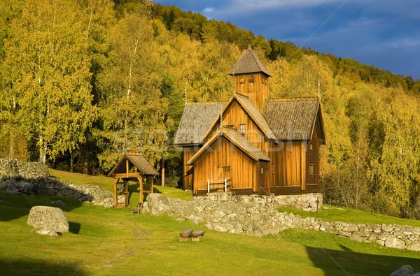 Uvdal Stavkirke, Norway Stock photo © phbcz