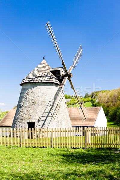 Moinho de vento República Checa arquitetura europa Foto stock © phbcz