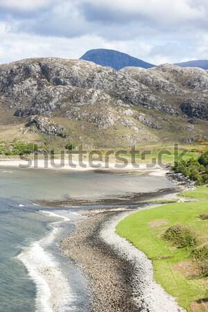 Hoogland Schotland strand natuur landschap stilte Stockfoto © phbcz
