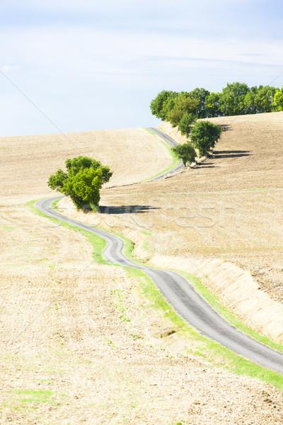 Domaine route département France paysage usine Photo stock © phbcz