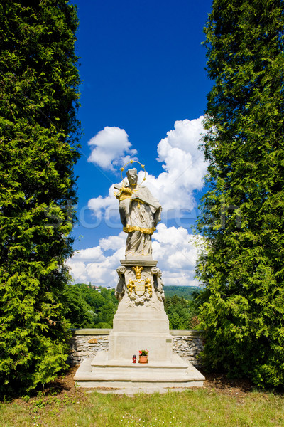 statue of Saint Jan Nepomucky, Nove Mesto nad Metuji, Czech Repu Stock photo © phbcz