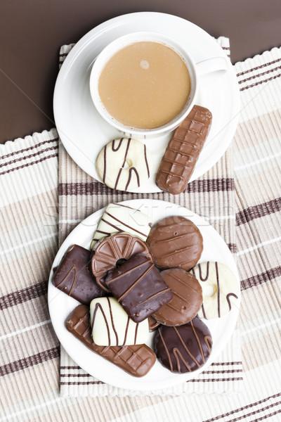 Кубок кофе Печенье десерта Sweet объект Сток-фото © phbcz